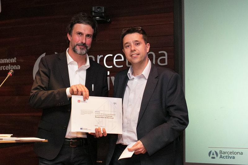 DEKRA HA SIDO ELEGIDA COMO UNA DE LAS EMPRESAS RESPONSABLES POR PARTE DE BARCELONA ACTIVA
